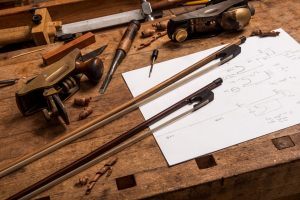 Classical bows at the workshop